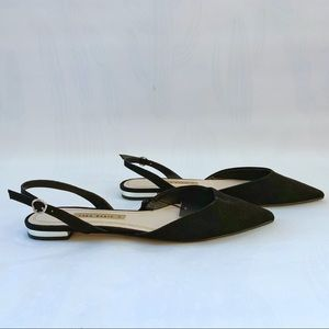 Zara Pointy Toe Flats with Adjustable Ankle Strap